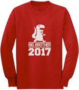 TeeStars - T-Rex Boy Gift for Big Brother 2017 Youth Kids Long Sleeve T-Shirt