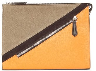 Fendi Ff-jacquard And Leather Pouch - Multi