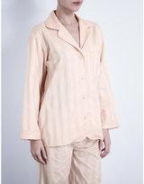 Bodas Shadow Stripe cotton pyjama shirt