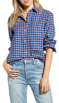 Grayson The Hero Plaid Feathered Cotton Flannel Shirt
