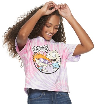 Nickelodeon Juniors' Tie-Dyed Rugrats Cropped Tee