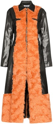 Supriya Lele Faux Fur Vinyl Coat