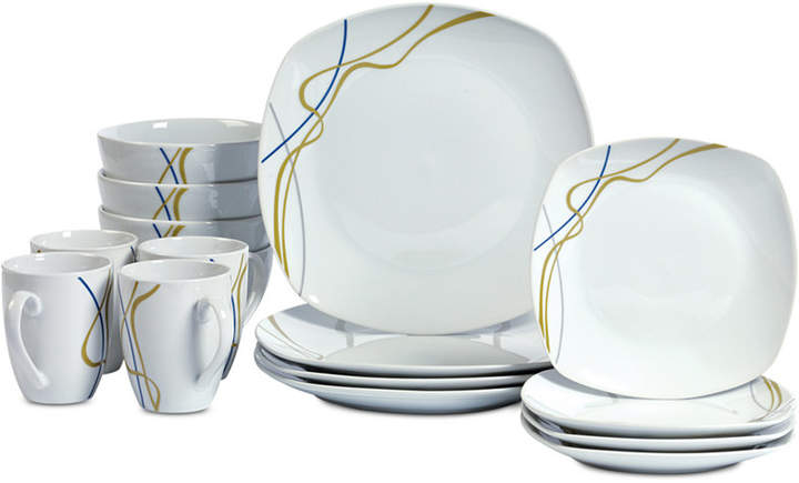 Tabletops Unlimited Hannah 16-Pc. Dinnerware Set, Service for 4