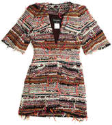 Chanel Resort 2015 Multicolored Boucle Short Sleeve Coat (Size 36)