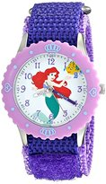 Disney Kids' W001924 Ariel Analog Display Analog Quartz Purple Watch