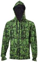 Marvel Official Mens The Hulk Comic Book Design Zip-Up Hoodie - Avengers Comics