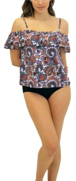 Fit 4 U Boho Off The Shoulder Top Women's Swimsuit