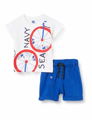 Tuc Tuc Blue Pocket Jersey T-Shirt and Bermudas Set for BOY SEA Riders
