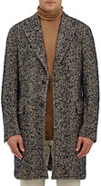Boglioli Men's Wool-Blend Bouclé Herringbone Tweed Coat-TAN, BEIGE, NAVY