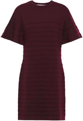 Victoria Victoria Beckham Ribbed Wool Mini Dress