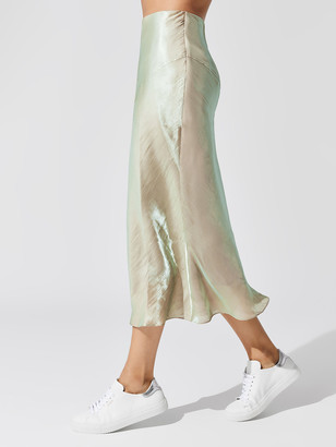 Carbon38 Washed Satin Skirt