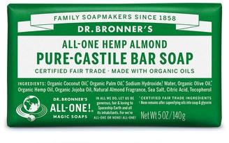 Dr. Bronner's All-One Hemp Pure-Castile Almond Bar Soap 140G