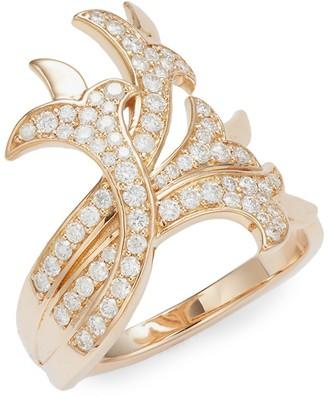 Sara Weinstock French Tulip 18K Rose Gold Diamond Intertwining Ring
