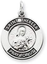 1928 Gold and Watches Sterling Silver Antiqued Saint Theresa Medal