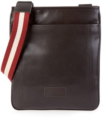 Bally Terino Stripe-Strap Leather Crossbody Bag