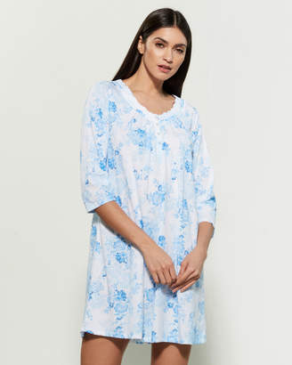 Aria Three-Quarter Sleeve Printed Short Sleep Gown