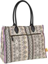 Lassig Vintage Style Diaper Bag includes Insulated Bottle Holder, Changing Mat and Stroller Hooks, Ethno