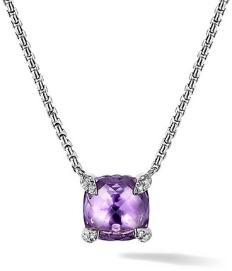 David Yurman Chatelaine Pendant Necklace with Gemstone & Diamonds