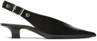 Victoria Beckham Studded Patent-leather Slingback Pumps