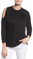 Bobeau Women's Cold Shoulder Sweatshirt