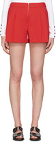 3.1 Phillip Lim Red Twill Bloomer Shorts