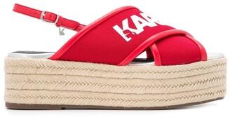 Karl Lagerfeld Paris Kamini platform sling