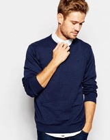 Blend of America Crew Knit Sweater Slim Fit in Navy