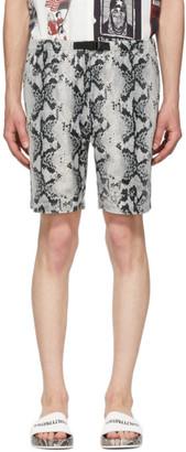 Wacko Maria Grey and Black Velour Python Shorts