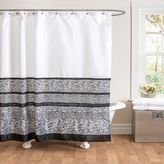 Bed Bath & Beyond Tribal Dance Shower Curtain in Black/White