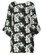 Dorothy Perkins Wo**izabel London Multi Green Shift Dress- Green