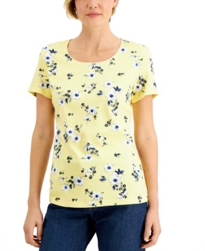Karen Scott Daisy-Print Top, Created for Macy's