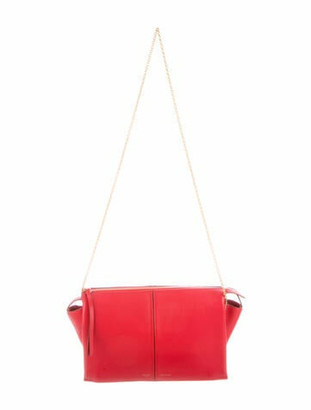Celine Trifold Clutch On Chain Red
