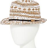 OLSENBOYE Olsenboye Woven Fedora Hat
