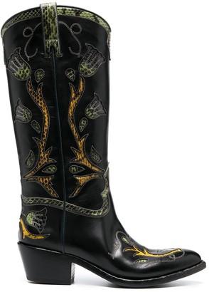Sartore Western knee-length boots