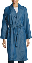 MiH Jeans Carmel Chambray Trench Coat, Dark Blue