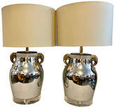 One Kings Lane Vintage Bauer Lucite & Chrome Table Lamps - Set of 2 - nihil novi - chrome/black/clear/gold