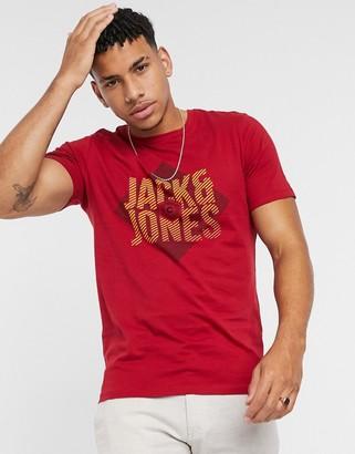 Jack and Jones Originals geo logo t-shirt