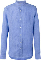 Brunello Cucinelli band collar shirt - men - Cotton/Linen/Flax - S