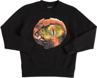 Marcelo Burlon County of Milan Mars Printed Cotton Sweatshirt