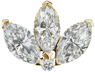 Maria Tash Engraved Diamond Lotus Threaded Stud Earring (4Mm)