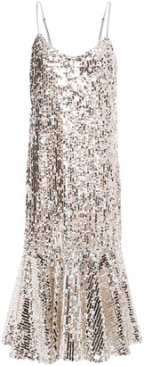 Veronica Beard Mykola Sequined Tulle Slip Dress