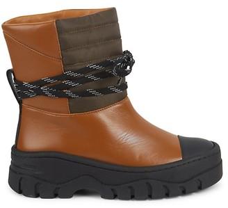 Ganni Biker Cognac Leather Boots