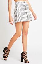 BCBGeneration Striped Zipper-Front Skirt