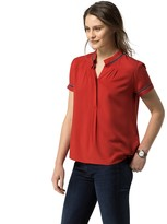 Tommy Hilfiger Piped Short-Sleeve Blouse