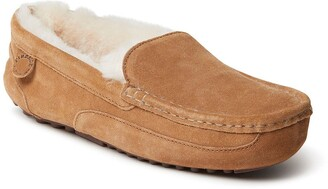 Dearfoams Fireside Melbourne Genuine Shearling Lined Moccasin Slipper