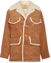 Marc Jacobs Faux Shearling-lined Cotton-corduroy Jacket - Brown