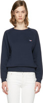 MAISON KITSUNÉ Navy Fox Patch Pullover