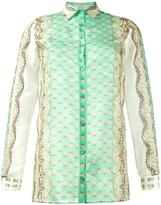 Etro printed long sleeve shirt - women - Silk/Cotton - 40
