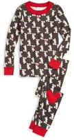 Hanna Andersson Disney ® Classic Holiday Organic Cotton Fitted Two-Piece Pajamas (Toddler, Little Kids & Big Kids)