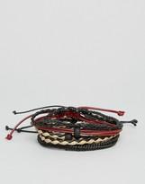 Aldo Braided Bracelets In 4 Pack